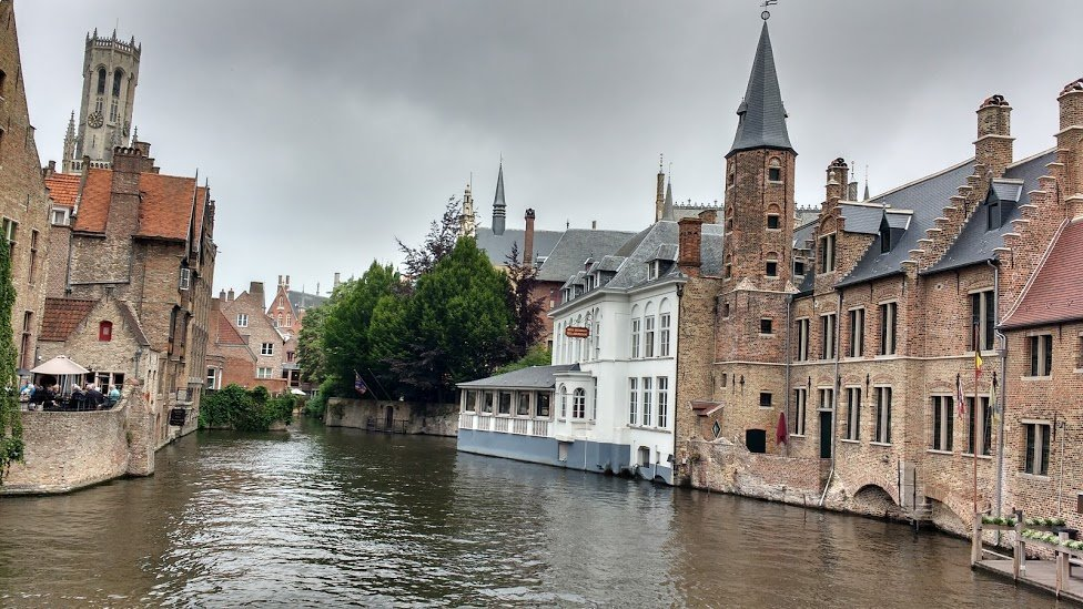 Romantic canal in Bruges