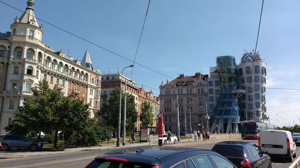 Romantic Prague - The Dancing House or Fred and Ginger - Nationale-Nederlanden building