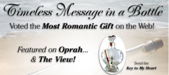 The Most Romantic Gift Idea – a Timeless Message in a Bottle!
