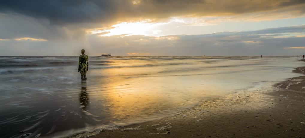 Romantic UK Breaks - Crosby Beach - an Oustanding Beach near Liverpool